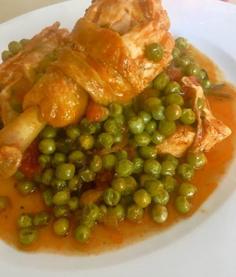 Nostos Restaurant Chicken with beans