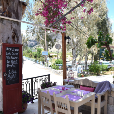 Nostos Restaurant beautiful tables